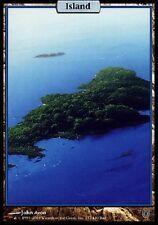 Ile - Island Unhinged (Unglued 2) - Full Art Textless - Mtg Magic île - NM