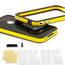 ★ iPhone 4 4S TPU Bumper ★ Silikon Case Schutz Hülle Cover Original schwarz gelb