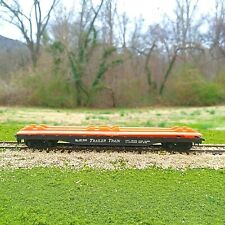 Vintage Tyco HO Scale Frisco Trailer Train Piggy-Back Flat Car Black