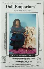 """Doll Emporium DE 408 Wardrobe For Sabine 28"""" Doll Clothes Sewing Pattern"""