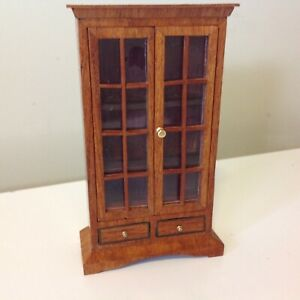 1/12 Scale Antique Dolls House Furniture Solid Timber Cabinet on Drawers