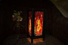 Per fatti a mano Asiatico Orientale MONACO comodino luce o del pavimento di legno Lampada di carta