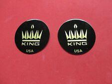 New King Trombone Logo Emblems for Balance Weight, Set of 2!