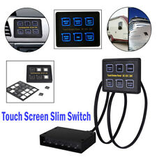 12V/24V 6 Gang LED Touch Screen Panel Slim Switch Control Car Boat Truck Marine