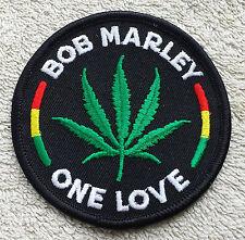 BOB MARLEY LEAF PATCH Cloth Badge/Emblem/Insignia Biker Jacket Rasta One Love