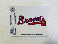 "Atlanta Braves 3"" x 4"" Small Static Cling Logo Truck Car Auto Window Decal New"