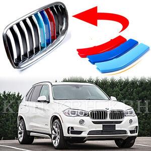 Fits BMW X5 F15 2014-2015 Kidney Grille Slats M Tech 3 Colour Cover Stripe Clip