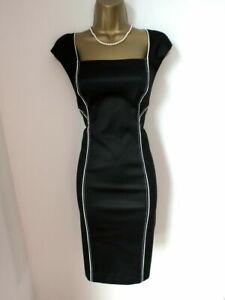 Coast Black Fitted Shift Wiggle Dress UK 14 EU 42 US 10