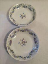 Paire de Antique Ch FIELD HAVILAND LIMOGES bols avec jolie fleur bleu design