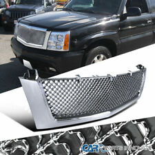 Grille For 02-06 Cadillac Escalade Front Chrome Mesh Hood Grill Replacement