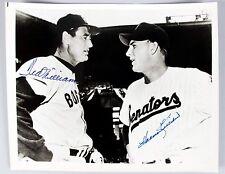 Ted Williams & Harmon Killebrew Autographed Opening Day Griffith Stadium PSA/JSA