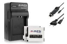 2x Batterie NB-11L + Caricatore per Canon IXUS 265 HS / PowerShot A2300, A2400