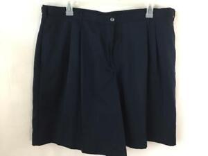 Elisabeth Liz Claiborne shorts size 22 dark blue 3 pockets pleated polyester