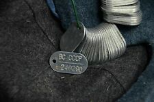 Vintage Authentic Soviet Russian Army  Dog Tag, ID Soldiers