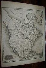 1829 ANTIQUE MALTE BRUN UNITED STATES NORTH AMERICA ATLAS MAP COPPER ENGRAVING