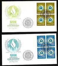 Un Geneva #25-26 Human Enviroment Set of 2 Artmaster B4Fdcs