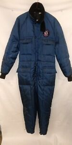 Walls BLIZZARD-PRUF Vintage Insulated Snow Suit Coveralls w/hood Womans Small