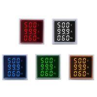 3 in 1 Square LED Digital Voltmeter Ammeter Volt Current Frequency Tester Meter