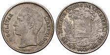 ☆ ☆ VENEZUELA 1929 ☆ 1 BOLIVAR • SILVER 0.835 • PHILADEL ☆ 23mm • KM# Y22 ☆C5854