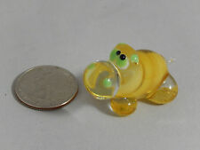 Cute Miniature Hand Blown Glass Hippo Figurine!