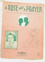 A Rose and A Prayer, Sung by Gladys Moncrieff, *AUS Variant Sheet Music* 1941