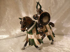 SCHLEICH WORLD OF TOURNAMENT KNIGHTS GREEN KNIGHT ON HORSE 2005 SEE PICS