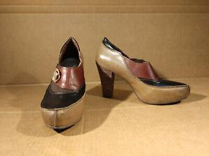 Spring Step L'Artiste Deco Heels Pumps Shoes Black Brown Sz 40 US  9.5