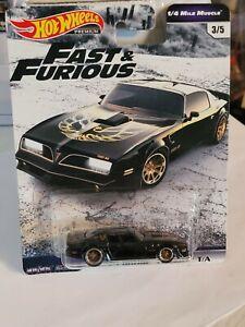 Hot Wheels Fast & Furious '77 Pontiac Trans Am Carded 1/64