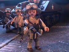 PLAYMOBIL CUSTOM US SUB. .ARMORED CAVALRY(FRANCE-1944) REF-0176 BIS