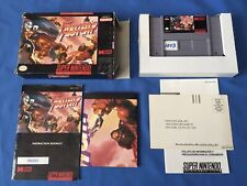 Fighters History SNES Super Nintendo CIB Complete Poster One Cent No Reserve