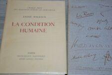 André Sauret Editeur exemplaire N°40 / La condition humaine / André Malraux