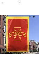 New listing Iowa State University Cyclones 28'' x 44'' Applique Flag - Isu College Fooball