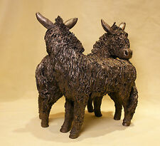 Donkeys Pair  Standing VB064 - Veronica Ballan - Superb Gift - New