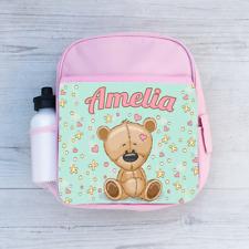 Personalised Tatty Teddy Girls Kids Backpack Childrens School Bag Love Heart Dot