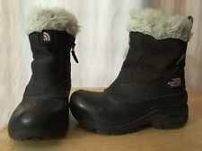 The North Face Winter Boots Size 1 USA Kids Pink And Brown