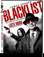 Blacklist Complete Third Season 3 TV Series  DVD New (HMVDVD-3308 / HMV-122)