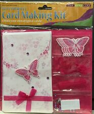 TWO For Arts Sake DIY Card Making Kit Butterflly 8 Cards Total