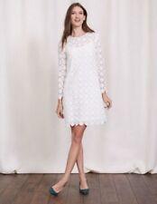 (BX) Boden ivory floral lace cotton party dress size UK 18 Regular