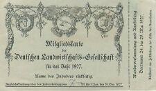 i8541 Alte Mitgliedskarte Landwirtschaftsgesellschaft 1927, Nienstädt Sülbeck