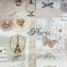 Arthouse VIP papier peint Felicity naturel 665400 Paris fleurs Script Papillon