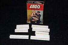 Vintage LEGO  Set # 225-3: Nine 1x6 and 1x8 Bricks, White / 1966