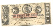 Milledgeville, GA- State of Georgia $100 Feb. 1, 1863 Cr. 6 About Uncirculated.