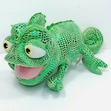 "Disney Parks Tangled Rapunzel Pascal Chameleon Plush 11"" Stuffed Green Lizard"