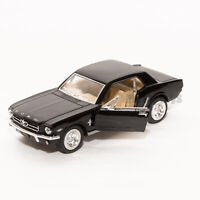 Ford Mustang 1964 1/2 in Black, Kinsmart scale 1:36, model toy car gift