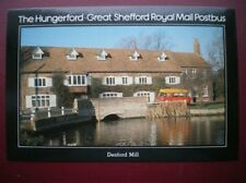 POSTCARD ROYAL MAIL HUNGERFORD - GREAT SHEFFORD MAIL POSTBUS AT DENFORD MILL