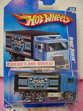 2009 Hot Wheels HIWAY HAULER #114/190~Blue Cab;Black Box; Express~HW City Works