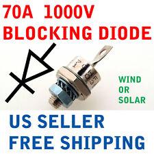 70A 1000V BLOCKING DIODE WIND GENERATOR SOLAR PANEL 70 AMP PANELS TURBINE STUD A