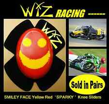 SPARKY WIZ KNEE SLIDERS SMILEY FACE YELL-RED