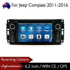"6.2"" Car DVD GPS Navigation Head Unit Stereo Radio For Jeep Compass 2011-2016"