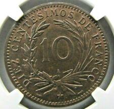 Dominican Republic 10 Centesimos de Franco 1891-A NGC MS 64 BN